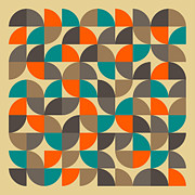 Abstract Geometric Shapes Prints - 25 Percent #4 Print by Jazzberry Blue