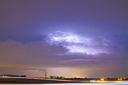The Lightning Man Metal Prints - 25 to 34 Intra-Cloud Lightning Thunderstorm Metal Print by James Bo Insogna