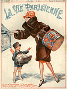 Boys Drawings Posters - 1920s France La Vie Parisienne Magazine Poster by The Advertising Archives