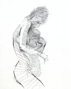 Black Woman Drawings - RCNpaintings.com by Chris N Rohrbach