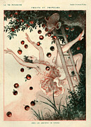 Fruits Drawings Prints - 1920s France La Vie Parisienne Magazine Print by The Advertising Archives