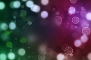 Bubbles Prints - Abstract background Print by Les Cunliffe