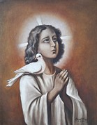 Brown Tones Paintings - 267  The Boy Jesus - a Jew by Sigrid Tune