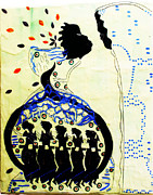 Figure Ceramics Prints - Wise Virgins Print by Gloria Ssali