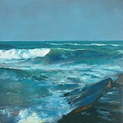 Galveston Paintings - 27th Break by Randall Cogburn