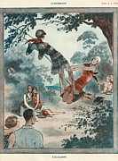 Featured Metal Prints - La Vie Parisienne 1922 1920s France Metal Print by The Advertising Archives