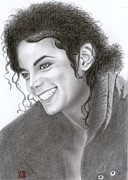 Michael Drawings Posters - Michael Jackson Poster by Eliza Lo