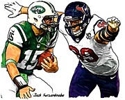 New York Jets Framed Prints - 290 Framed Print by Jack Kurzenknabe