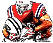 New York Jets Prints - 295 Print by Jack Kurzenknabe