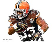 Trent Richardson Prints - 299 Print by Jack Kurzenknabe