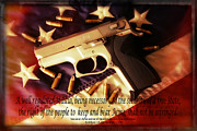 Colorado Flag Photos - 2nd Amendment by Bob Hislop