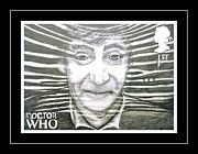 Mccoy Drawings Framed Prints - 2nd Doctor Patrick Troughton Framed Print by Jenny Campbell Brewer