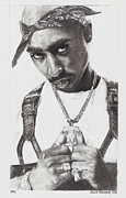Hip Drawings Originals - 2Pac by Roland Benipayo