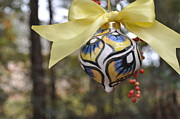 Yellow Ceramics Prints -  Majolica Maiolica Ornament Print by Amanda  Sanford