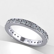Platinum Jewelry - 14K White Gold Diamond Eternity Band by Eternity Collection