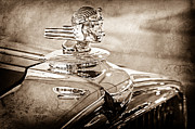 Collector Hood Ornament Posters - 1933 Stutz Dv-32 Hood Ornament Poster by Jill Reger