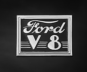 1940 Ford Photos - 1940 Ford Deluxe Coupe Emblem by Jill Reger