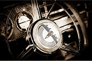 1941 Framed Prints - 1941 Buick Eight Special Steering Wheel Emblem Framed Print by Jill Reger