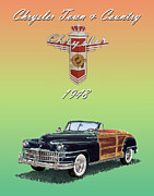 Wood Posters Posters - 1948 Chrysler Town and Country Poster by Jack Pumphrey