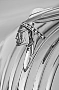 Vintage Pontiac Metal Prints - 1948 Pontiac Chief Hood Ornament Metal Print by Jill Reger