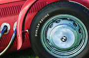Race Car Photo Prints - 1952 Frazer-Nash Le Mans Replica MkII Competition Model Tire Emblem Print by Jill Reger