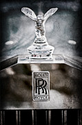 Collector Hood Ornament Metal Prints - 1952 Rolls-Royce Hood Ornament Metal Print by Jill Reger