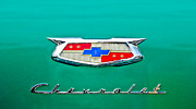 Featured Art - 1954 Chevrolet Emblem by Jill Reger