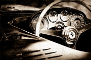 Wheel Photos - 1954 Ferrari 500 Mondial Spyder Steering Wheel Emblem by Jill Reger