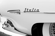 Black And White Photos Photos - 1954 Hudson Italia Touring Coupe Emblem by Jill Reger
