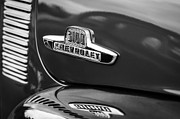 White Chevy Photos - 1955 Chevrolet 3100 Pickup Truck Emblem by Jill Reger