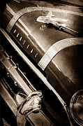 Collector Hood Ornament Metal Prints - 1955 Pontiac Star Chief Grille Emblem - Hood Ornament Metal Print by Jill Reger