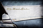 Bel Air Prints - 1957 Chevrolet Belair Taillight Emblem Print by Jill Reger