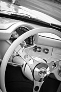 1957 Corvette Photos - 1957 Chevrolet Corvette Steering Wheel Emblem by Jill Reger