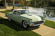 Family Car Framed Prints - 1957 Ford Thunderbird Framed Print by Dave Koontz