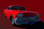 1958 Chevrolet Impala Framed Prints - 1958 Chevrolet Impala Framed Print by Tim McCullough