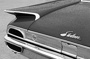 1960 Photo Metal Prints - 1960 Ford Galaxie Starliner Taillight Emblem Metal Print by Jill Reger