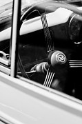 1960 Photos - 1960 Morris Minor Panel Delivery Truck Steering Wheel Emblem by Jill Reger