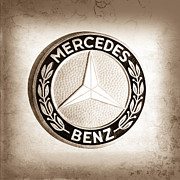 1969 Photos - 1969 Mercedes-Benz 280 SL Emblem by Jill Reger