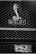 Jet Photo Framed Prints - 1969 Shelby Gt500 Convertible 428 Cobra Jet Grille Emblem Framed Print by Jill Reger