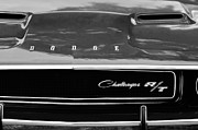 1970 Photos - 1970 Dodge Challenger RT Convertible Grille Emblem by Jill Reger