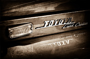 Cruiser Photo Posters - 1970 Toyota Land Cruiser FJ40 Hardtop Emblem Poster by Jill Reger