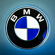 Car Photography Photos - 1972 BMW 2000 TII Touring Emblem by Jill Reger