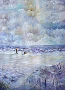 Ocean Scenes Mixed Media Prints - 34th St. Beach Print by Loretta Luglio