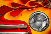 Indy Car Prints - 48 Ford on Fire Print by Ron Pate