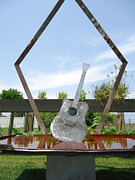 Welded Guitar Sculpture Framed Prints - A Chance No Strings Attached Framed Print by Matthew Padlo