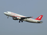 Klm Prints - Air Arabia Maroc Airbus A320 Print by Paul Fearn