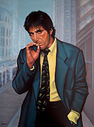 The Godfather Painting Framed Prints - Al Pacino Framed Print by Paul  Meijering