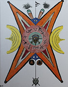 Ken Zabel Metal Prints - Alien test pattern. Metal Print by Ken Zabel
