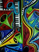 Abstract Paintings - All That Jazz by Karen Day-Vath