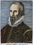 Pare Photo Framed Prints - Ambroise Pare (1517?-1590) Framed Print by Granger